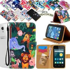 Stand Card Wallet Leather Cover Case For Various Alcatel One Touch POP phones