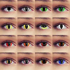 Cat eye contact lenses green white red blue colored cat eye lenses for halloween