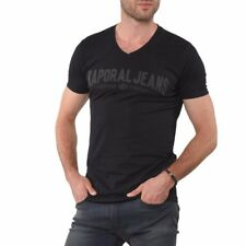 Tee shirt KAPORAL Homme manches courtes MOBO Noir, Taille S M L XL XXL