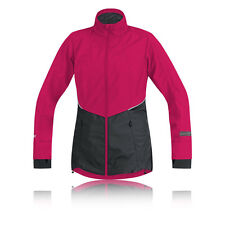 Gore Air Windstopper Active Shell Donna Rosa Nero Impermeabile Sport Giacca