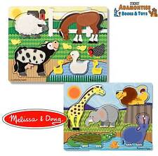 Melissa Doug Touch & Feel Sensory Tactile Baby Early Learning Puzzle Toy FARM