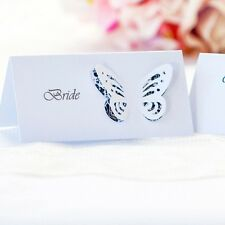 5 x Personalised Place Cards – Weddings etc  – Butterfly Damask