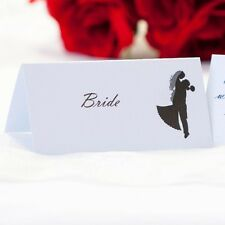 5 x Personalised Place Cards – Weddings etc  – Silhouette
