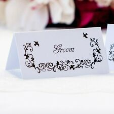 5 x Personalised Place Cards – Weddings etc  – Say it with Birds