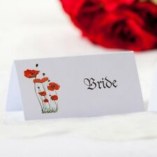 5 x Personalised Place Cards – Weddings etc  – Poppy