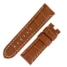 Panerai Style Alligator Deployment Watch Strap in BROWN
