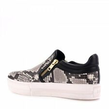 ASH JORDY SLIP ON TRAINERS COBRA EFFECT LEATHER ,39,40 rp£135