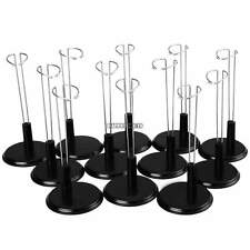 Black Adjustable Doll Stand 12 Pack Doll Display Holder For 8
