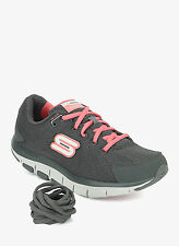 Skechers Brand Womens Grey Pink Shape Up Running Shoes