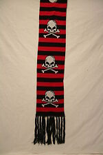 ALTERNATIVE COLLEGE STYLE SCARVES 6 DESIGNS-SKULLS-SKULL & CROSS BONES+MORE