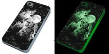 Three Wolves Wolf Moon glow in the dark phone case iPhone 4, 4S,5C,Samsung S3 S4