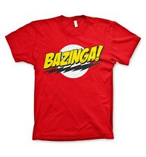 The Big Bang Theory : Bazinga - T-Shirt rouge - NEUF Officiel
