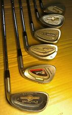 SELECTION OF WILSON PROSTAFF PITCHING, SAND WEDGE PW SW GOLF CLUBS