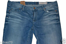 STRETCHIGE DAMEN JEANS VON ESPRIT FIVE SLIM FIT WASHED BLAU-JEANS MEDIUM RISE