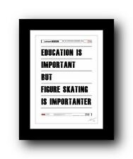 FIGURE SKATING ❤  poster art signed limited edition print - cool unframed gift