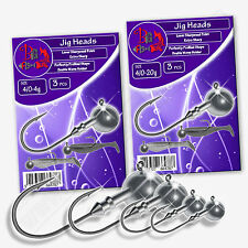 Jig Heads 4/0 4g-20g STRONG SHARP Hooks Pike Perch Sea Fishing Tackle Soft Lure