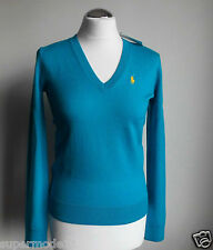 POLO GOLF RALPH LAUREN Damen Pullover 100% Merino Wolle turquoise  Gr. XS S M