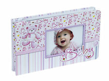 "Hand Embellished 'Baby Girl' or 'Baby Boy' Photograph Album 6"" x 4"""