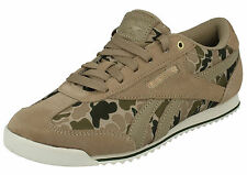 LADIES REEBOK GREEN PAPERWHITE CAMOUFLAGE LACE UP CANVAS TRAINERS ROYAL CL RAYEN