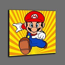 Quadro Super mario luigi principessa peach bowser wario  pop art stampa canvas