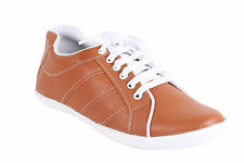 Quarks Men's Stylish Casual Sneakers - Tan Color - Q1060TN