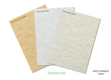 A4 Parch Marque Certificate Papers - 3 Colours To Choose Or Assorted Choice.