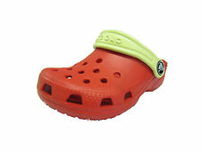 CHILDRENS CROCS CLOGS MULES RED STYLE CAYMAN KIDS