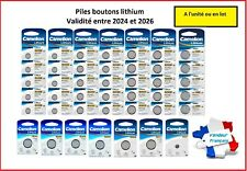 Piles /Cells boutons Camelion 3V Lithium CR2032/2025/2016/1220/1225/1616/1620