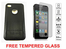 Leather and Hard Plastic back cover case for iPhone 4 4s - COMBO OFFER