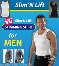 UNIQUE - SLIM N LIFT MEN BODY SHAPER - TUMMY SHAPER- INSTANT THIN LOOK - L -2XL