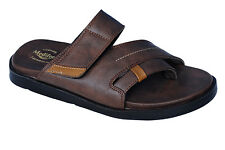 Medifeet Brand Mens Brown Dr Soft  Sandal MF-174
