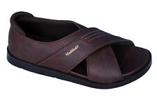 Medifeet Brand Mens Brown Dr Soft  Sandal MF-08
