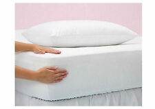 NEW WATERPROOF MATTRESS PROTECTOR COVER SINGLE DOUBLE VINYL MATTRESS TOPPERS
