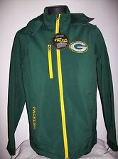 Green Bay PACKERS Soft Shell Jacket with Removable Hood GREEN Size: SMALL