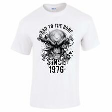 GIFT BOXED Bad To The Bone Since 1976 40th Birthday Present Gift Mens T Shirt