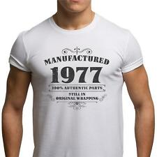 GIFT BOXED Manufactured 1976 Vintage Retro Mens 40th Birthday Present T Shirt