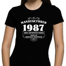 GIFT BOXED Manufactured 1986 Vintage Retro Womens 30th Birthday Present T Shirt