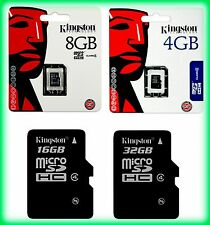 Clé USB, Carte mémoire Micro SDHC classe 4 KINGSTON, 2/4/8/16/32 GB