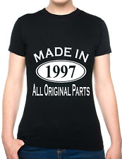 21st Birthday Made In 1997 Gift Ladies T-Shirt Size S-XXL