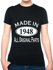 70th Birthday Made In 1948 Gift Ladies T-Shirt Size S-XXL