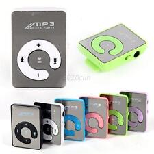 Mini USB Digital MP3 Music Player Mirror Clip Support 8GB SD TF Card 6 Colors