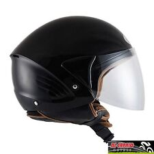 CASCO scooter DEMI JET KYT by Suomy mod COUGAR varie taglie nero lucido black