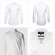 Fa M Ou S Men's White Formal Dinner Shirt Dress Shirts Size 14.5-18 RRP £19 -£35