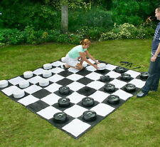 Garden Games Giant Draughts / Checkers (25cm diameter) Perfect for outdoor