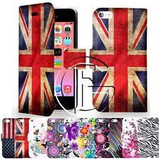 Apple iPhone 5C MAGNETICO PU Custodia cover FLIP PORTAFOGLIO PELLE &