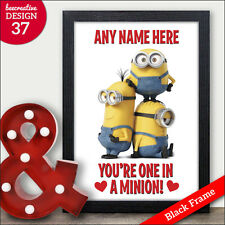 MINIONS Valentines Gifts - Personalised One in a Minion Valentines Gift Him Her
