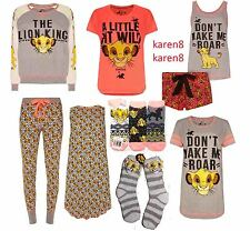 DISNEY Ladies Pyjamas SIMBA The LION KING Primark A LITTLE BIT WILD PJ Separates