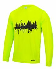 Long sleeve loose fit mountain bike top / jersey / wicking - performance top