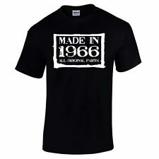 GIFT BOXED Made In 1966 50th Birthday Present Gift Retro Old Funny Mens T Shirt