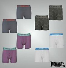 2 Pack Junior Boys Lonsdale Stretch Boxers Boxer Trunks Underwear Size Age 7-13